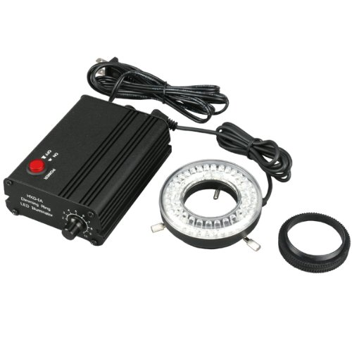 Amscope Led-60Mb 60-Led Microscope Ring Light With Solid Black Metal Control Box