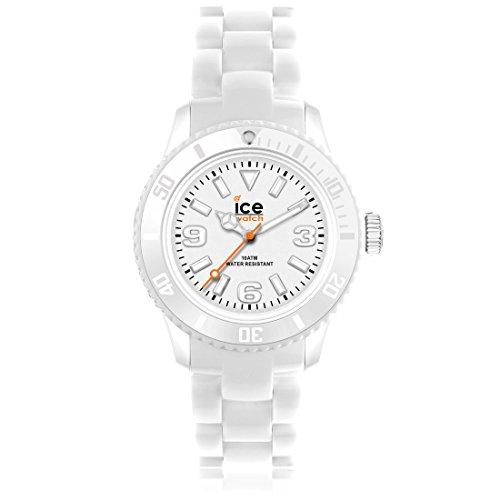 Ice Watch SD.AT.U.P.12 Orologio da Polso, Quadrante Analogico da Donna, Cinturino in Silicone, Bianco
