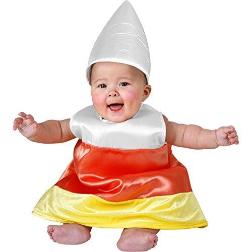 Baby Candy Corn Halloween Costume (Size: 6-12M)