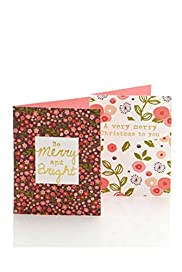 8 Floral Christmas Multipack of Cards [T21-2278M-S]