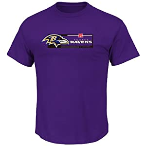 Baltimore Ravens Big & Tall Purple Short Sleeve Touchdown T-Shirt from VF Imagewear