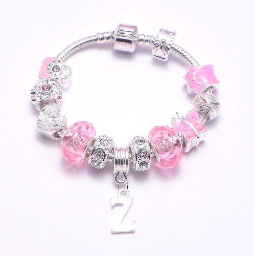 Personalised Children's Charm Bracelet Letter 'Z' Pandora Style