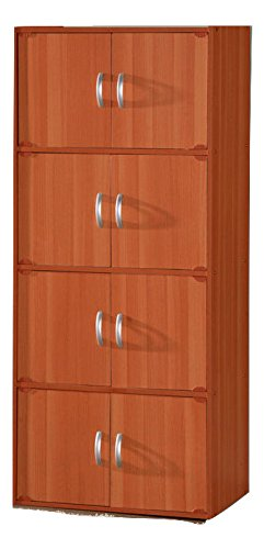 8 Door Contemporary Vertical Wooden Storage File Cabinet in Cherry (24 Deep File Cabinet compare prices)