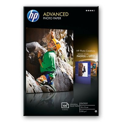 HP Advanced Glossy Photo Paper, 100 x 150 mm, 250 g/m2, 100 Sheets