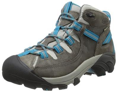 KEEN Women's Targhee II Mid Waterproof Hiking Boot,Gargoyle/Caribbean Sea,5 M US