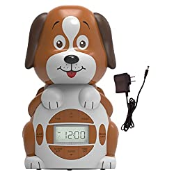 Big Red Rooster BRRC101AC Dog Projection Alarm Clock, Operates On An AC Adaptor (Included) or 3 C Batteries