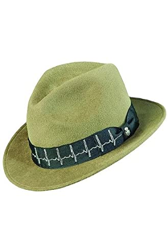 dacd8aac Carlos Santana Hat Fedora MILAGRO SAN141 Olive at Men s Clothing store on  PopScreen