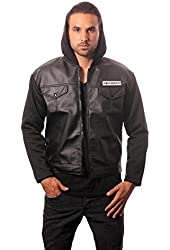 Sons of Anarchy Road Gear Leather Jacket with Hood