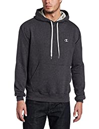 Champion Men\'s Pullover Eco Fleece Hoodie, Granite Heather, Large