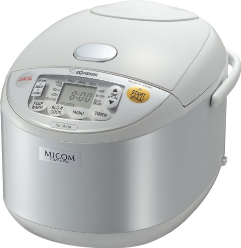 Zojirushi NS-YAC18 Umami Micom 10-Cup (Uncooked) Rice Cooker and Warmer, Pearl White (Zojirushi Soup Pot compare prices)