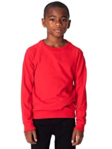 American Apparel Youth California Fleece Raglan - Red / 8 Jahre