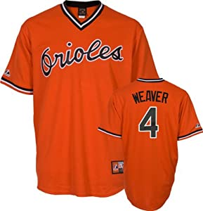 Earl Weaver Baltimore Orioles Replica Cooperstown Jersey by Majestic by Majestic