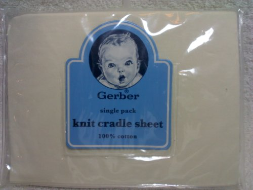 Gerber Single pack Knit Cradle Sheet 100% Cotton Off White - 1