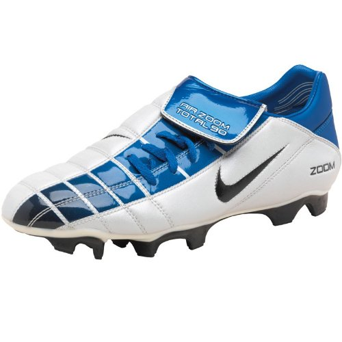 Nike Junior Air Zoom Total 90 II Football Boots White/Blue