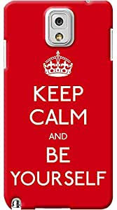 Kasemantra Keep Calm And Be Yourself Case For Samsung Galaxy Note 3