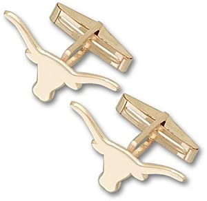 Texas Longhorns 3 8 Solid Longhorn 14KT Gold Cuff Links - 1 Pair by Logo Art