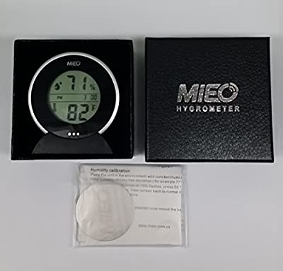 Digital Minimum Maximum Thermometer Calibrate Hygrometer with Touch Memory Checking Button Blue/Pack.Mieo