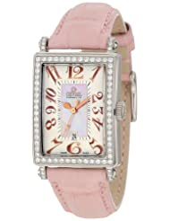 Gevril Women's 7248RL Mini Quartz Avenue of Americas Pink Diamond Watch