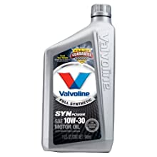 Valvoline VV935 SynPower Full Synthetic Motor Oil SAE 10W-30 - 1 Quart Bottle (Case of 6)