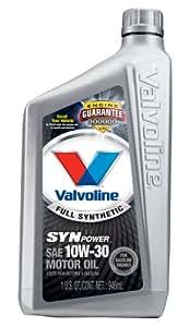 Valvoline VV935 SynPower Full Synthetic Motor Oil SAE 10W-30 - 1 Quart Bottle (Case of 6)