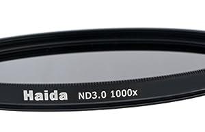 Filtre à densité neutre ND1000 (3,0) de 55mm et des bouchons objectif Pro