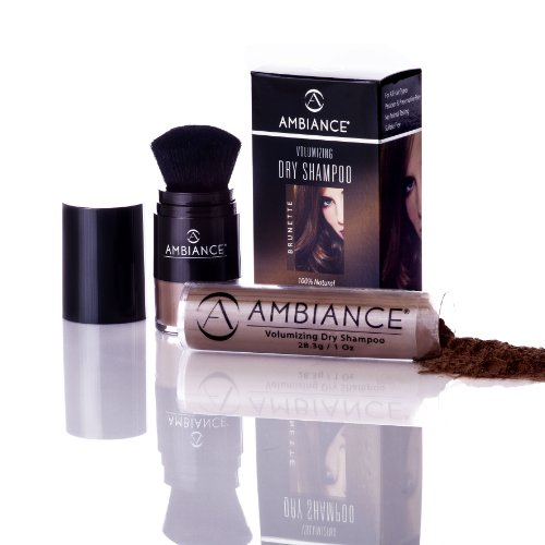 Ambiance Cosmetics Volumizing Dry Shampoo With Brush Applicator And Free Refill - Brunette front-400214