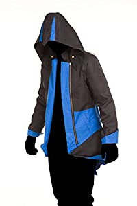 Cosplay Costume Hoodie/Jacket/Coat-10 Opitions for the fans,Black with Blue,Custom-Made
