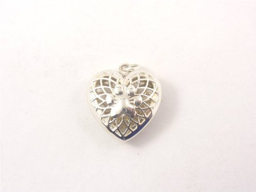 Sterling Silver Heart Puppy Paw Aromatherapy Diffuser Locket