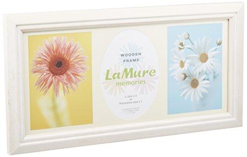 HAKUBA フォトフレーム 木製 多面 額 ラミュール メモリーズ L × 3面 サイズ ホワイト L 木製 FWLM-WL3
