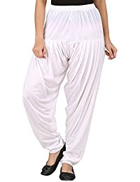 WellFitLook Womens Viscose Patiala Pant-Medium Size