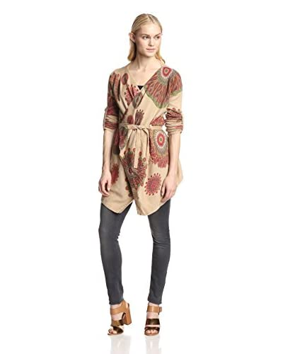 Desigual Women's Ribbon Belt Sweater  [Cognac]