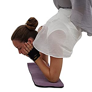 Yoga Paw Premium Yoga Pad - Cushioned Support Mat 4 Head & Joints Comfort - Eco-Friendly Non Toxic Natural Rubber - Anti-Slip Texture - Lightweight & Compact Travel Size - Easy Cleaning & Maintenance