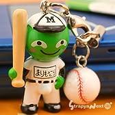 StrapyaNext 北海道発 まりもっこりスポーツ編「いい汗 これぞ青春 」携帯ストラップ(野球)