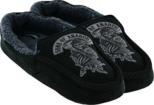 Sons of Anarchy Emblem Woven Slipper, Large (Anarchy Emblem compare prices)