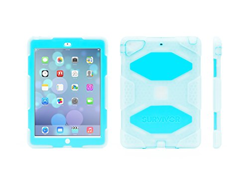Griffin Clear/Blue Survivor All-Terrain Case + Standfor iPad Air - Military-Duty Case (Griffin Ipad Cover compare prices)
