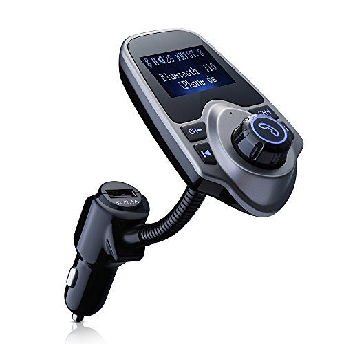topop Bluetooth Transmisor FM & USB cargador de coche Wireless Auto Kit con conector de audio de 3,5mm