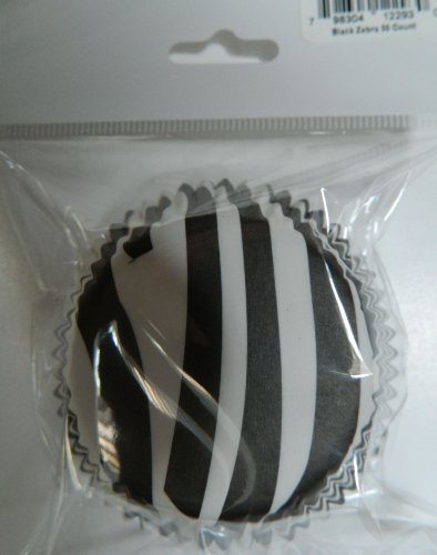 Black Zebra Cupcake Liners Baking Cups Standard Size 50 Count
