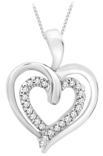 Carissima Gold 9 ct White Gold 0.07 ct Diamond