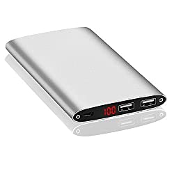 [Ultra-Slim 10000mah] Portable Phone Charger, External Battery Power bank Portable Charger Backup Pack With Powerful Dual USB Output Port for for iPhone,iPad,Samsung Galaxy,Cell Phones,Tablets.