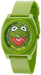 Muppets Men's MU1004 Kermit the Frog Dial Green Plastic Strap Watch