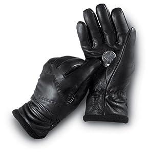 Ladies' Italian Leather Dress Gloves Black, BLACK, M