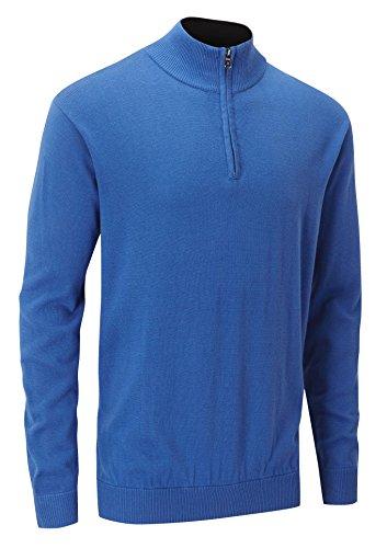 Stuburt Men's Urban - Maglione da uomo a girocollo con mezza zip, colore: blu imperiale, X-Large