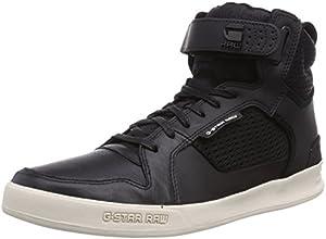 G-Star Yard Bullion Tech, Baskets mode homme - Noir (400), 45 EU