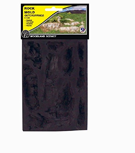 Woodland Scenics WS 1230 Rock Mold-Outcroppings - 5 x 7 - 1