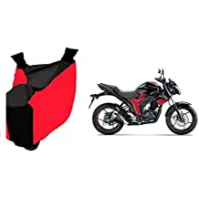 Bike Body Cover For Suzuki Gixxer In Red And Black Color