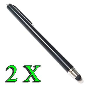 Bargains Depot® (Black) 2 pcs (2 in 1 Bundle Combo Pack) SILM / ACCURATE / FINE POINT / THINNER BARREL Capacitive Stylus/styli Universal Touch Screen Pen for Tablet & Cell Phone : Tablet PC Computer : HTC EVO View 4G Android Tablet, HTC Flyer 7 inch Andr