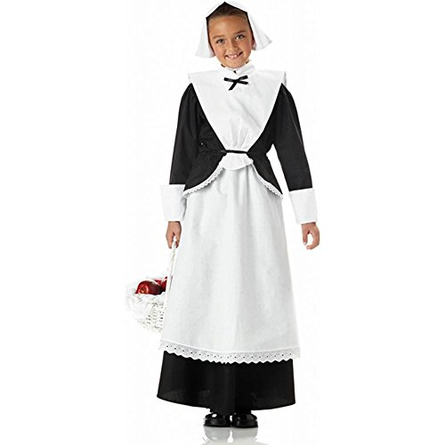 Girls Pilgrim Girl Costume - Wonderful for Thanksgiving Plays (Basket not included)