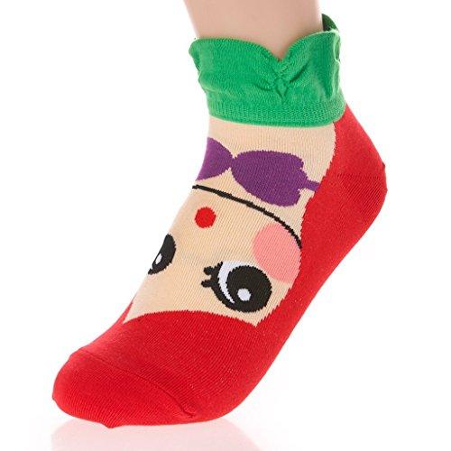 bluelansr-womens-girls-lovely-cartoon-cotton-low-cut-ankle-socks-princess-series-1