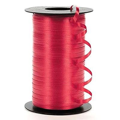 "Wholesale 500 Yard Spool of 3/16"" Red Curling Ribbon"