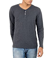 Younsters Choice Men's Cotton T-Shirt (YC-5803_Dark Grey_Large)